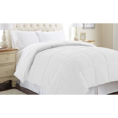 Down Alternative Reversible Comforter Size: King, Color: White / White