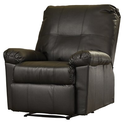 Androscogin Manual Recliner Upholstery: Black