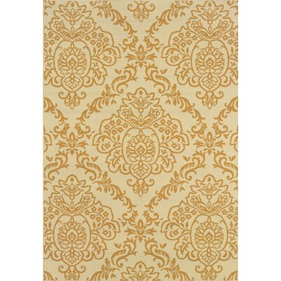 Carriage Hill Woven Ivory / Gold Area Rug Rug Size: 5'3