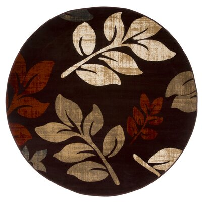 Sharon Lane Burgundy Area Rug Rug Size: Round 5