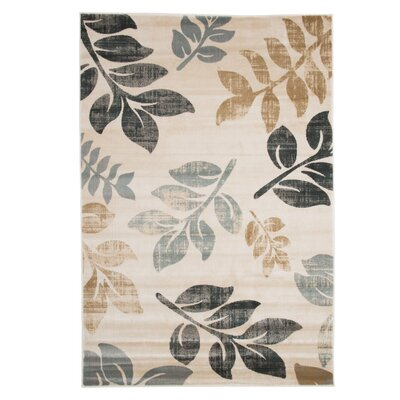 Sharon Lane Cream Area Rug Rug Size: 53 x 77