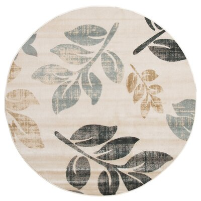 Sharon Lane Cream Area Rug Rug Size: Round 5