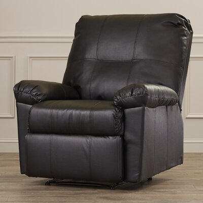 Androscogin Recliner Upholstery: Black