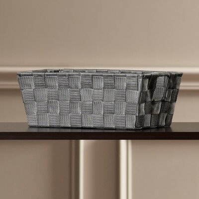 Berecraft Woven Strap Shelf Tote Color: Grey