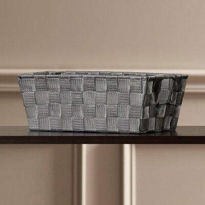 Berecraft Woven Strap Shelf Tote Color: Grey
