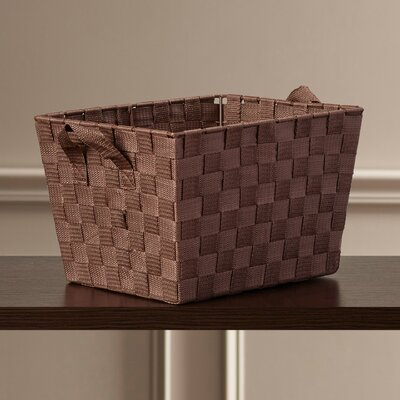 Small Woven Tote Color: Espresso