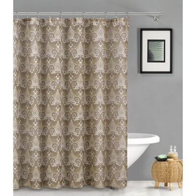 Aleshire Linen Look Shower Curtain Color: Taupe