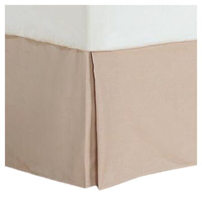 Cotton/Polyester 200 Thread Count Bed Skirt Size: Twin, Color: Taupe