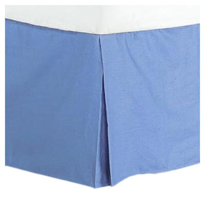 Cotton/Polyester 200 Thread Count Bed Skirt Size: Queen, Color: Blue