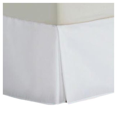 Cotton/Polyester 200 Thread Count Bed Skirt Size: Twin, Color: White