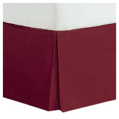 Cotton/Polyester 200 Thread Count Bed Skirt Size: Twin, Color: Burgandy