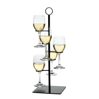 Gary Flight Server 5 Bottle Tabletop Wine Rack