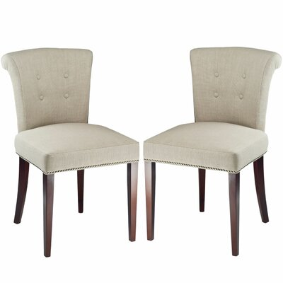 Dyer Side Chair in Sand (Set of 2) Upholstery: Linen - Sand