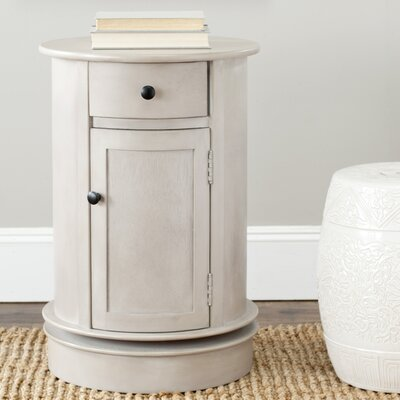 Brownsburg Swivel Oval 1 Drawer Cabinet Finish: Vintage Grey