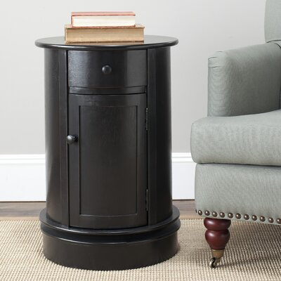 Brownsburg Swivel Oval 1 Drawer Cabinet Finish: Distressed Black