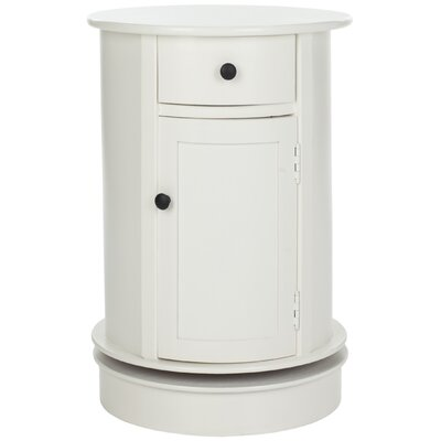 Brownsburg Swivel Oval 1 Drawer Cabinet Finish: Distressed Cream