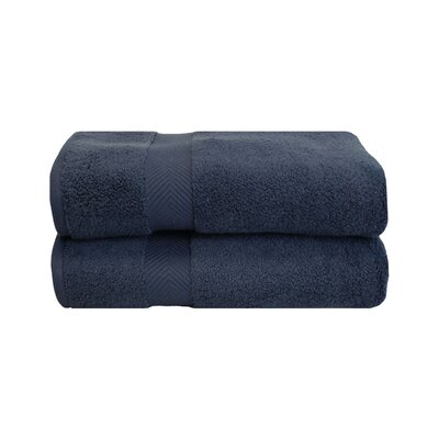 Zero Twist Bath Towel Set Color: Midnight
