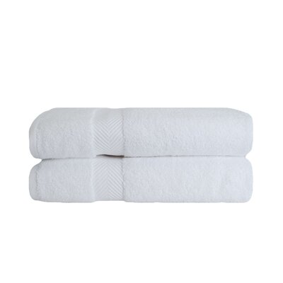 Zero Twist Bath Towel Set Color: White