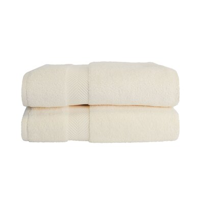 Zero Twist Bath Towel Set Color: Ivory