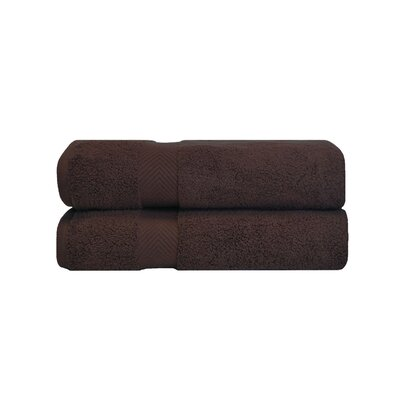 Zero Twist Bath Towel Set Color: Espresso