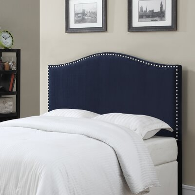 LaCrosse Upholstered Headboard Size: Full/Queen, Upholstery: Navy Blue
