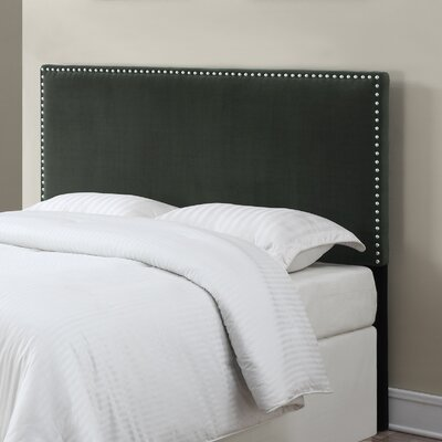 Lambert Upholstered Panel Headboard Size: King / California King, Upholstery: Gray