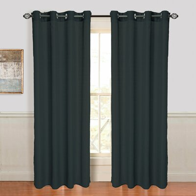 Zakouma Jacquard Grommet Single Curtain Panel