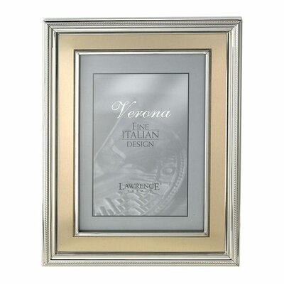 Brushed Gold Inner Panel Metal Picture Frame Size: 5 x 7