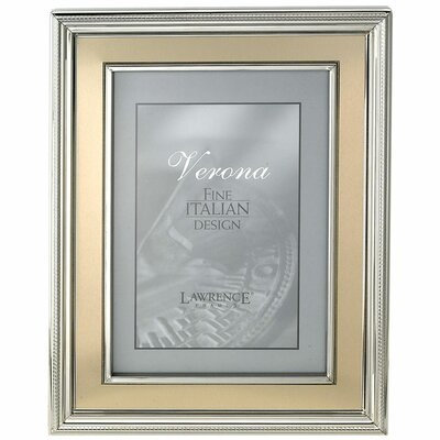 Brushed Gold Inner Panel Metal Picture Frame Size: 8 x 10