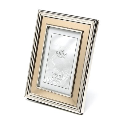 Brushed Gold Inner Panel Metal Picture Frame Size: 4 x 6