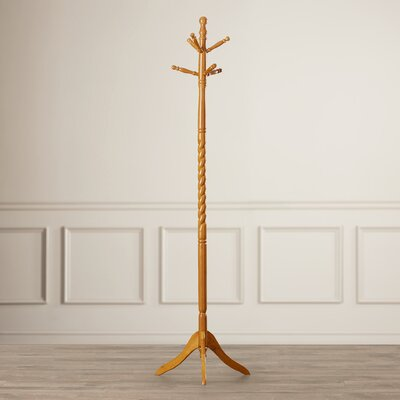 Twisted Center Coat Rack Finish: Oak