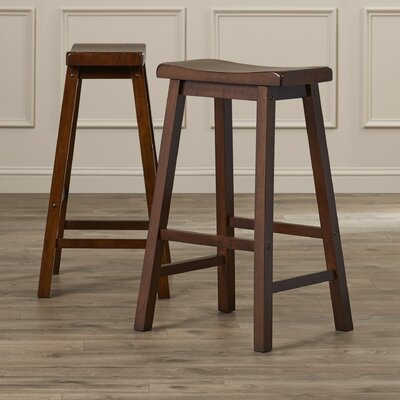 Shoals 29 Bar Stool Upholstery: Dark Walnut