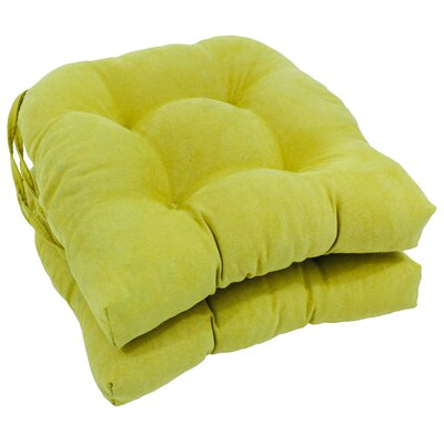 Microsuede Fabric Dining Chair Cushion Color: Mojito Lime
