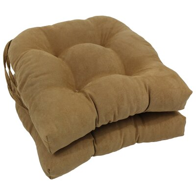 Microsuede Fabric Dining Chair Cushion Color: Camel