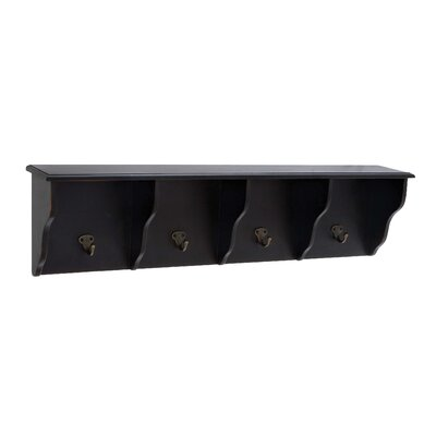 Wooden 4 Hook Shelf CHLH3190 27548974