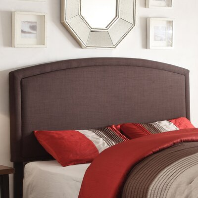Blueridge Upholstered Panel Headboard Upholstery: Chocolate, Size: Twin