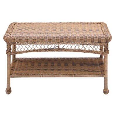 Clarke Wicker Patio Furniture Coffee Table Color: Honey