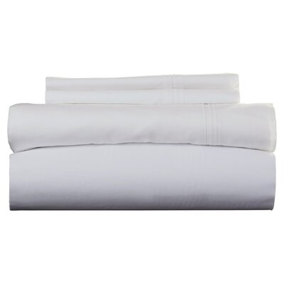 Harristown 350 Thread Count Egyptian 100% Cotton Extra Deep Pocket Sheet Set Size: Cal King, Color: White