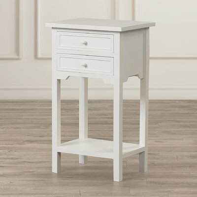 Berwick 2 Drawer End Table Finish: White