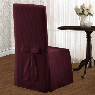 Parson Polyester Chair Slipcover Upholstery: Burgundy