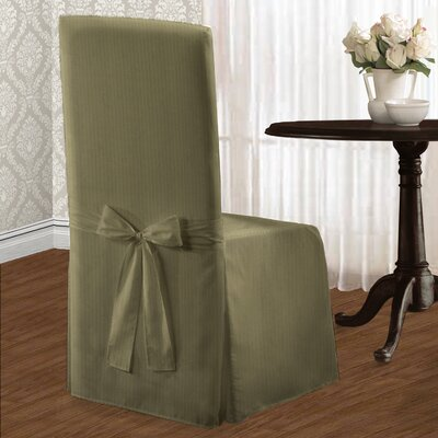 Parson Polyester Chair Slipcover Upholstery: Sage