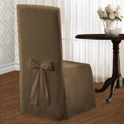 Parson Polyester Chair Slipcover Upholstery: Taupe