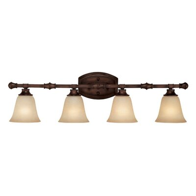 Lindenwood 4-Light Vanity Light Finish: Burnished Bronze