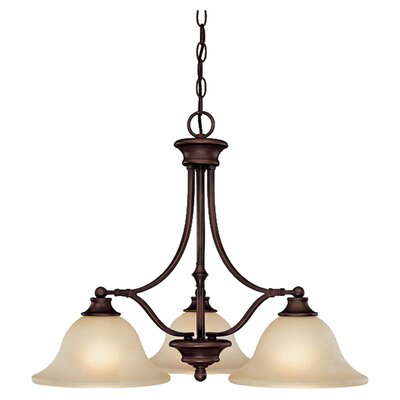 Lindenwood 3-Light Shaded Chandelier