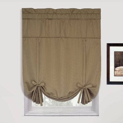 Room Darkening Tie-Up Shade Color: Taupe