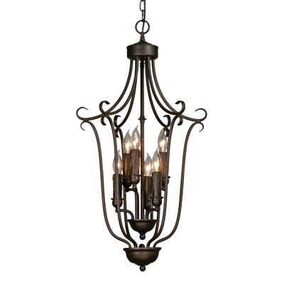 Buttonwillow 6-Light Foyer Pendant Finish: Rubbed Bronze