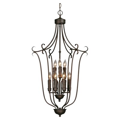 Bilbrook 9-Light Caged Foyer Inverted Pendant Finish: Rubbed Bronze
