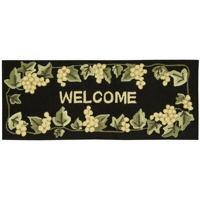 Arpdale Black Area Rug Rug Size: Rectangle 110 x 46