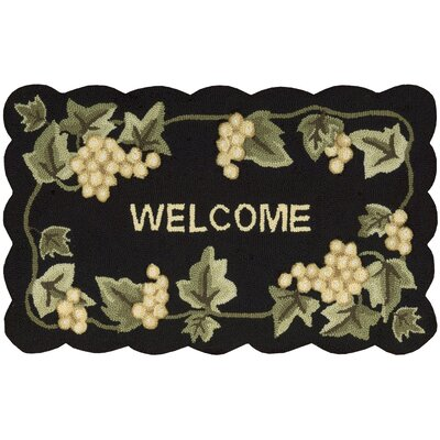 Arpdale Black Area Rug Rug Size: Scalloped 18 x 29