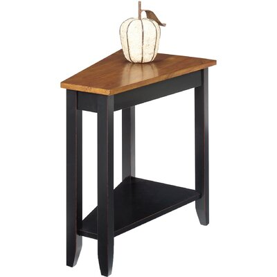 Bischoptree End Table Finish: Brown Cherry / Black